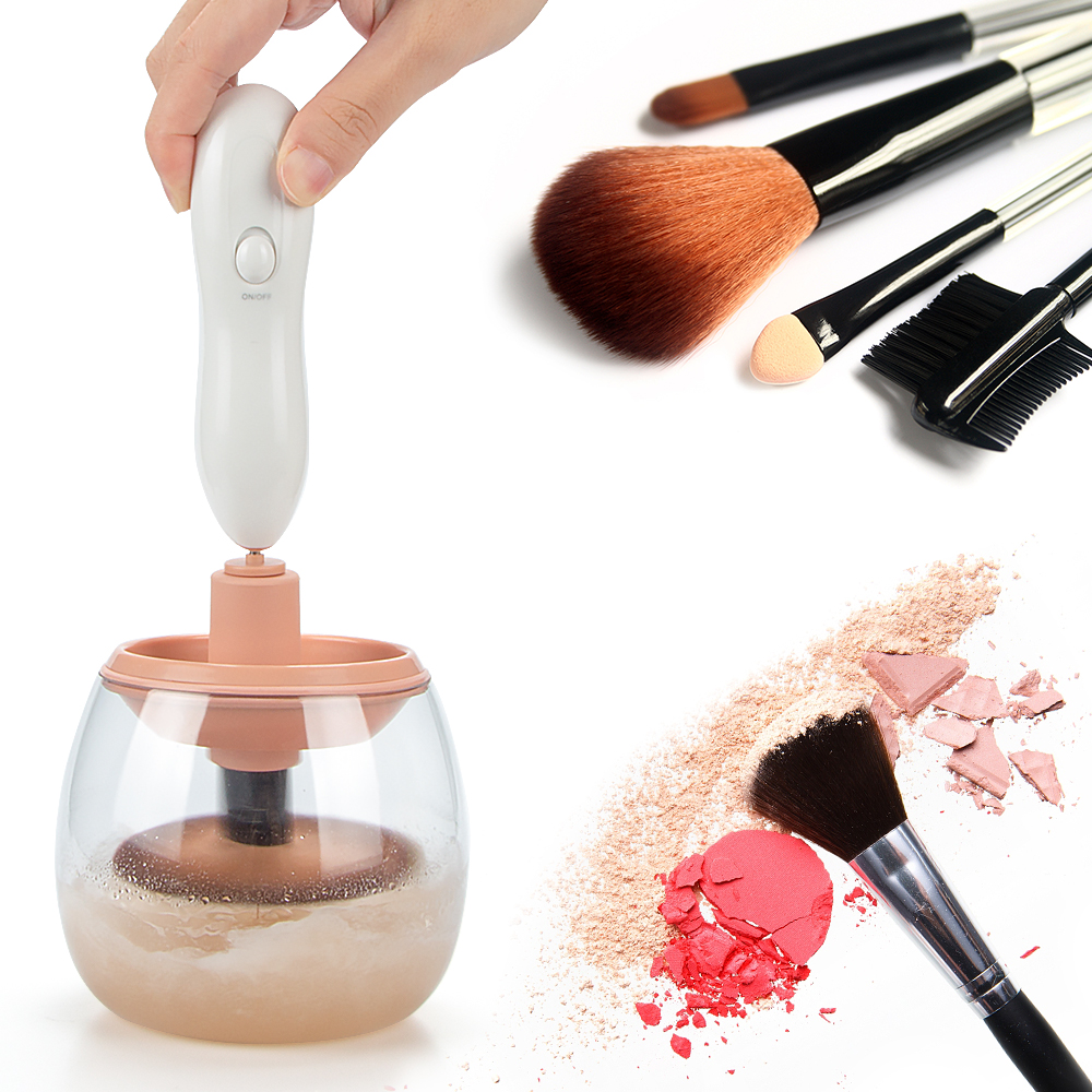 Homar Makeup Brush Cleaner - Automatic Cosmetics Brush Washing Machine Electric Drier Cleaning Tool - Cleans and Dries All Makeup Brushes in Seconds