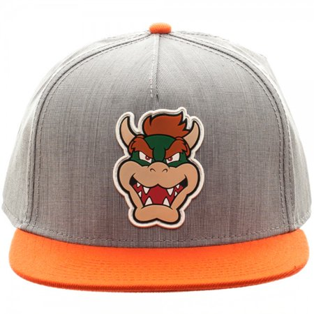 premium selection 6c638 5072e Baseball Cap - Nintendo - Koopa Rubber Sonic Weld Gray Orange New sb3fqqsmb  - Walmart.com