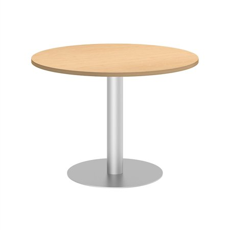 Bush Business Round Conference Table with Metal Disc Base in Maple - image 2 de 6