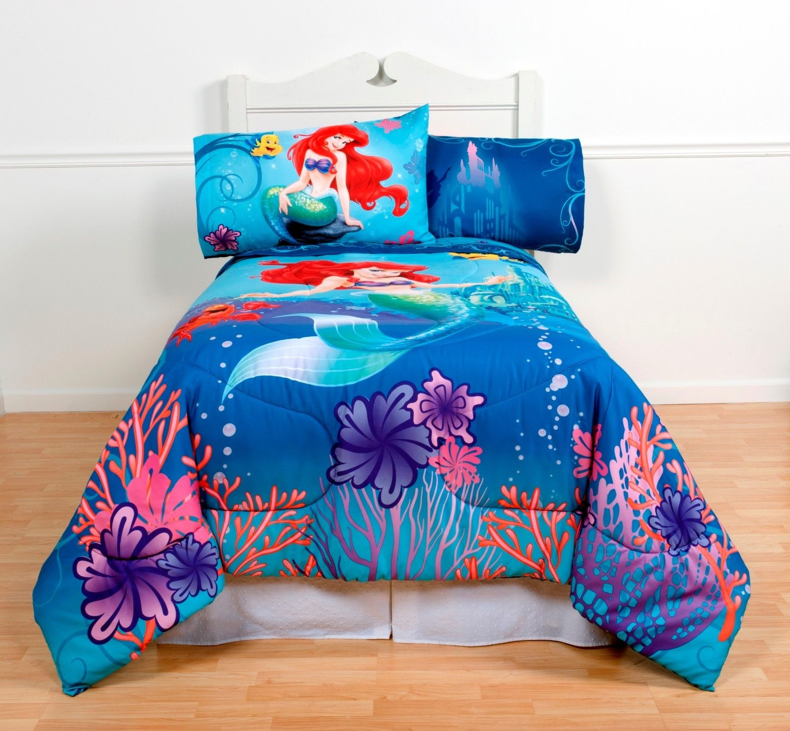 The Little Mermaid Full Comforter U0026 Sheet Set (5 Piece Bed In A ...