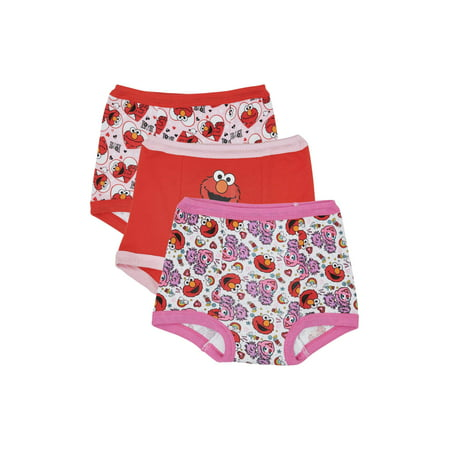 Elmo Potty Training Pants Underwear, 3-Pack (Toddler Girls)