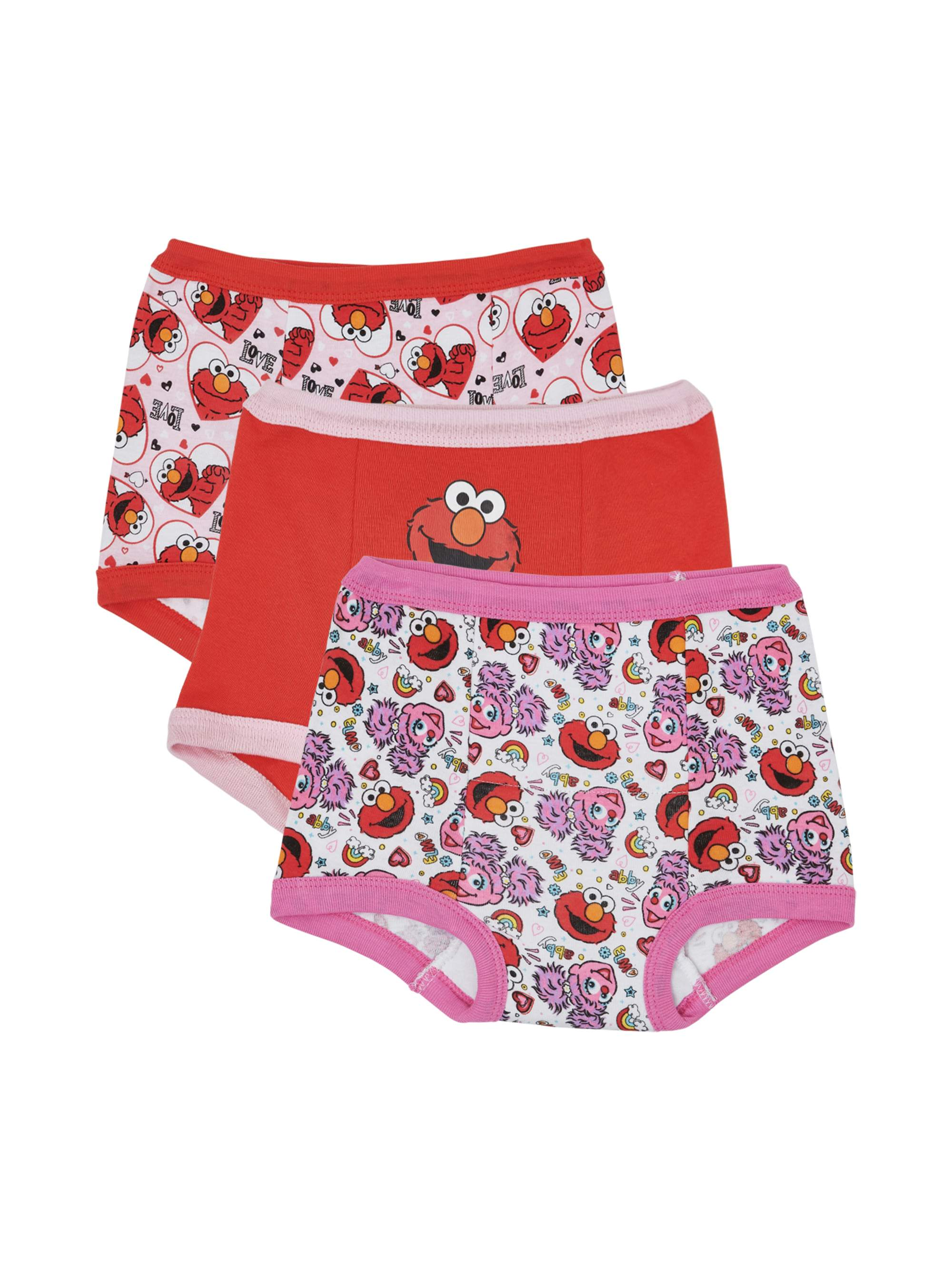 Elmo Girls' Training Pants, 3-Pack