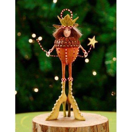 Patience Brewster Krinkles Adelaide Acorn Christmas Ornament - Patience Brewster Krinkles Adelaide Acorn Christmas Ornament