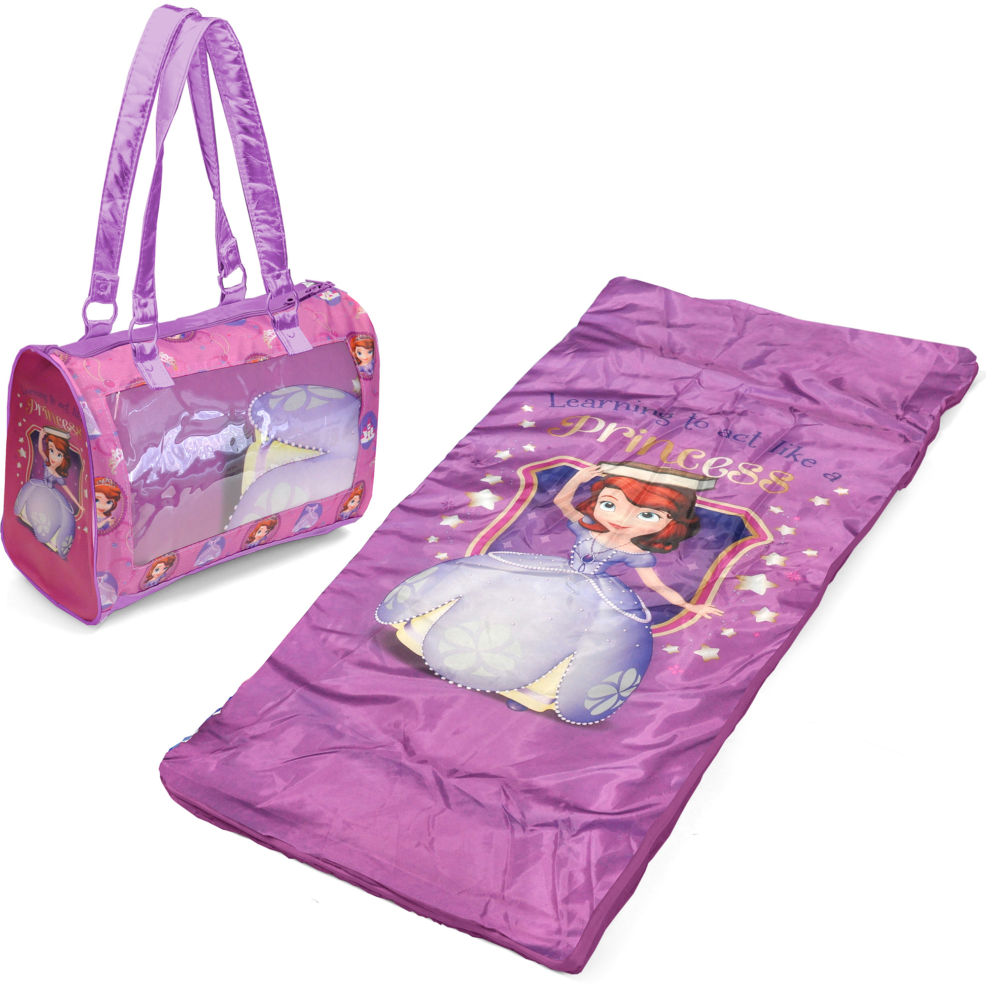 Disney Sofia The First Toddler Sleepover Set Nap Mat With Duffle