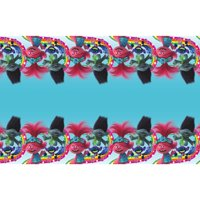 Trolls World Tour Plastic Party Tablecloth, 84 x 54in
