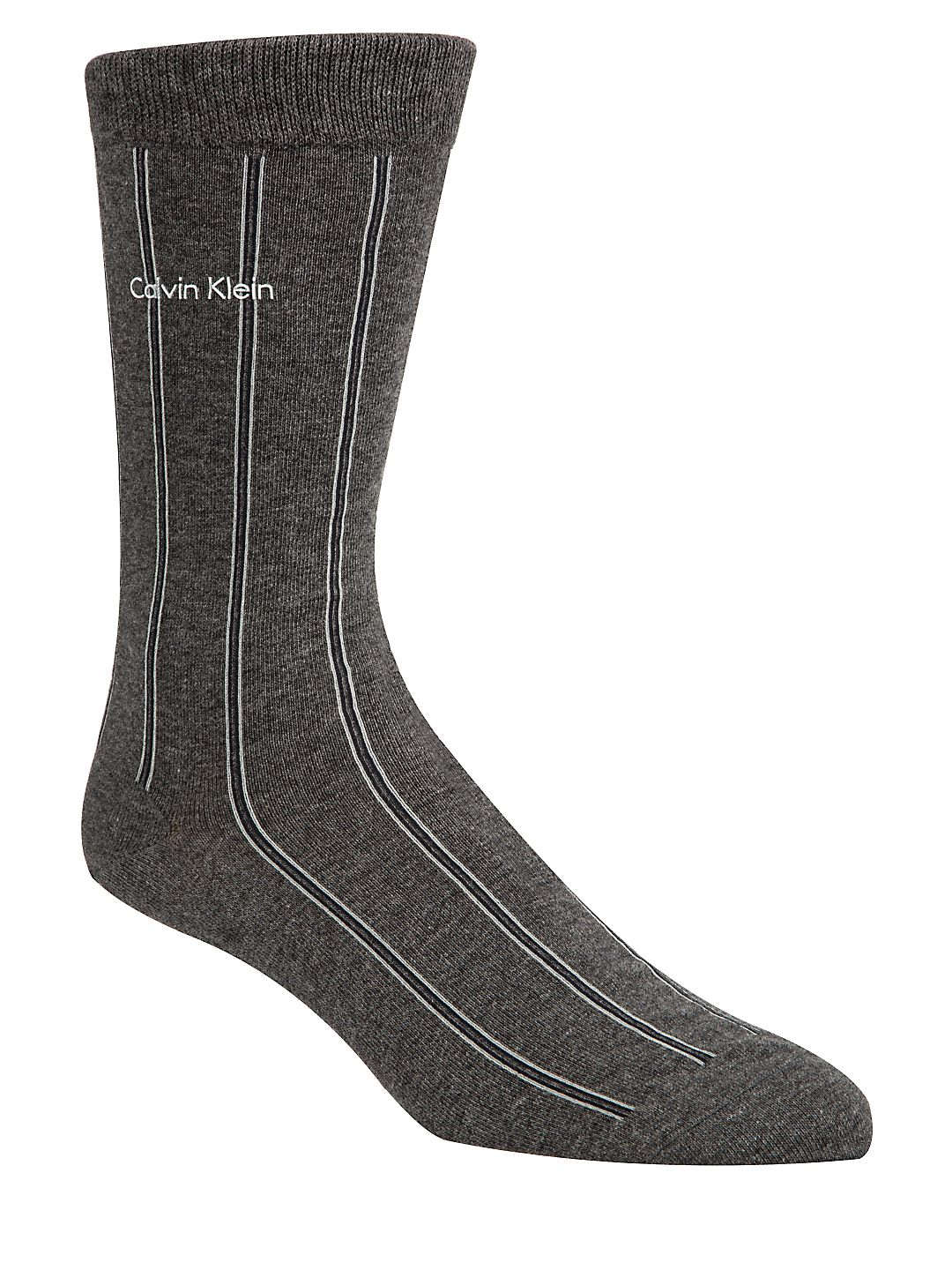 Chalk Stripe Crew Socks