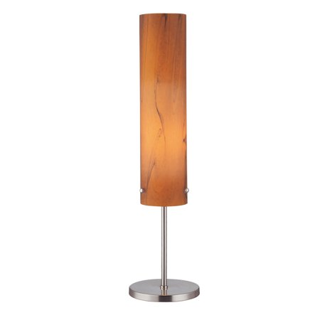 Lite Source LS-20450 Aolani 1-Light Table Lamp with Wood Grain Textured Glass Shade