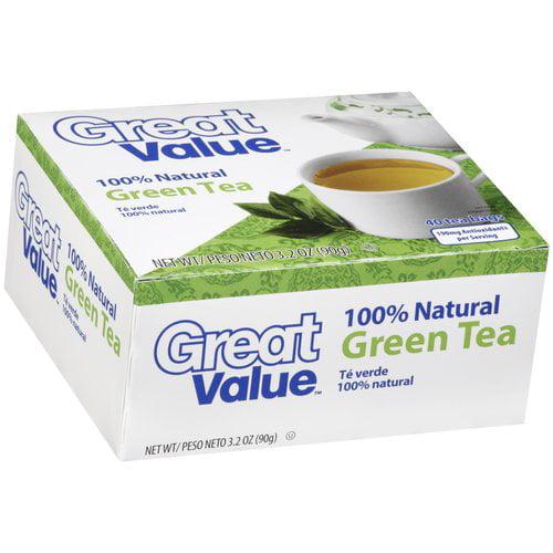 Great Value Green Tea Tea Bags, 40 ct