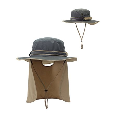 Sun Protection Boonie Hat with Neck Flap Cover for Men Women ... a15fe9028cfb