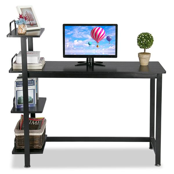 Yaheetech Wood Corner Computer Desk PC Laptop Table Workstation with 4 Tiers...