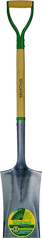 Perfect Mintcraft Garden Spade Shovel, 7 In W X 11 In L, 30 In Wood