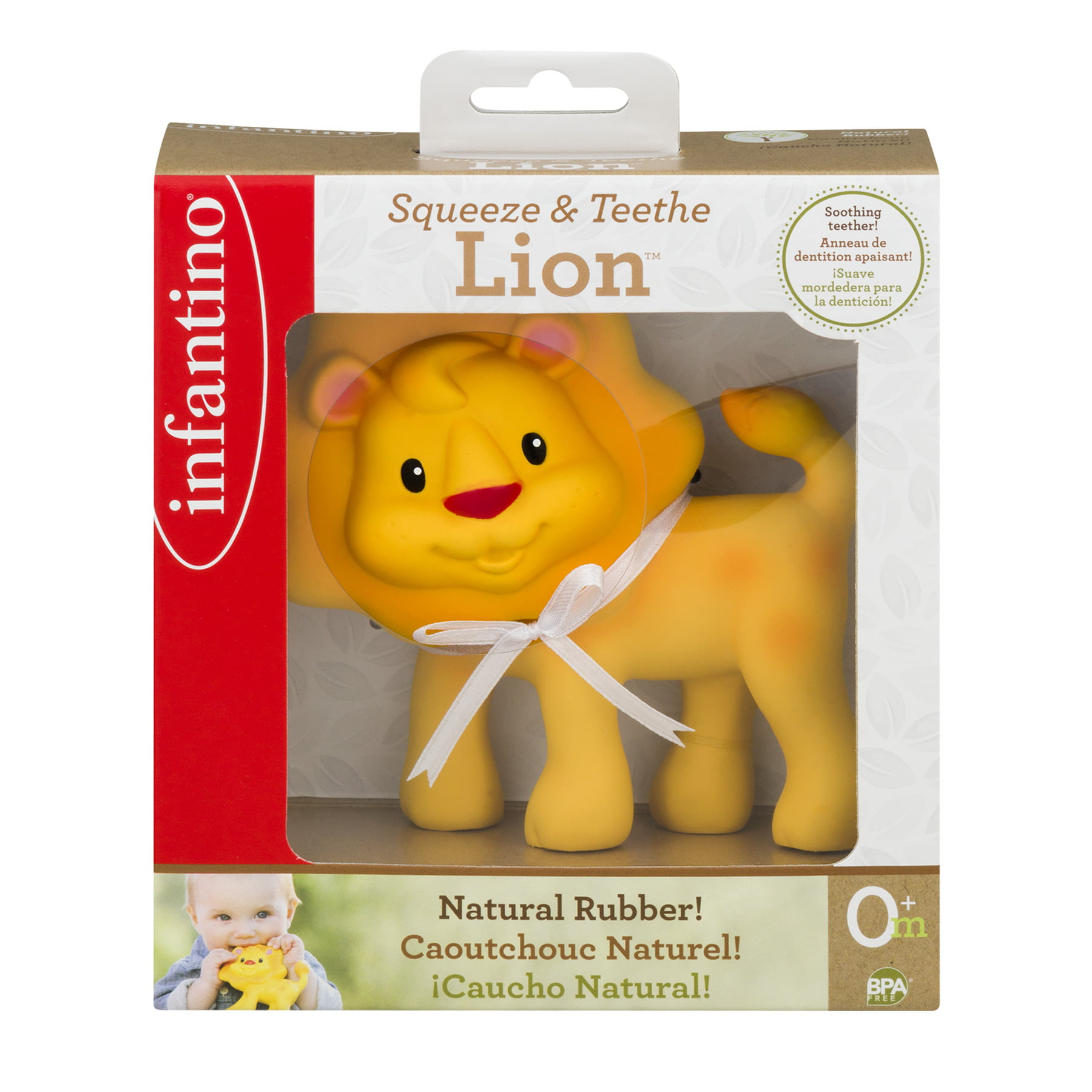 Infantino Squeeze & Teethe Lion 0+m, 1.0 CT by Infantino
