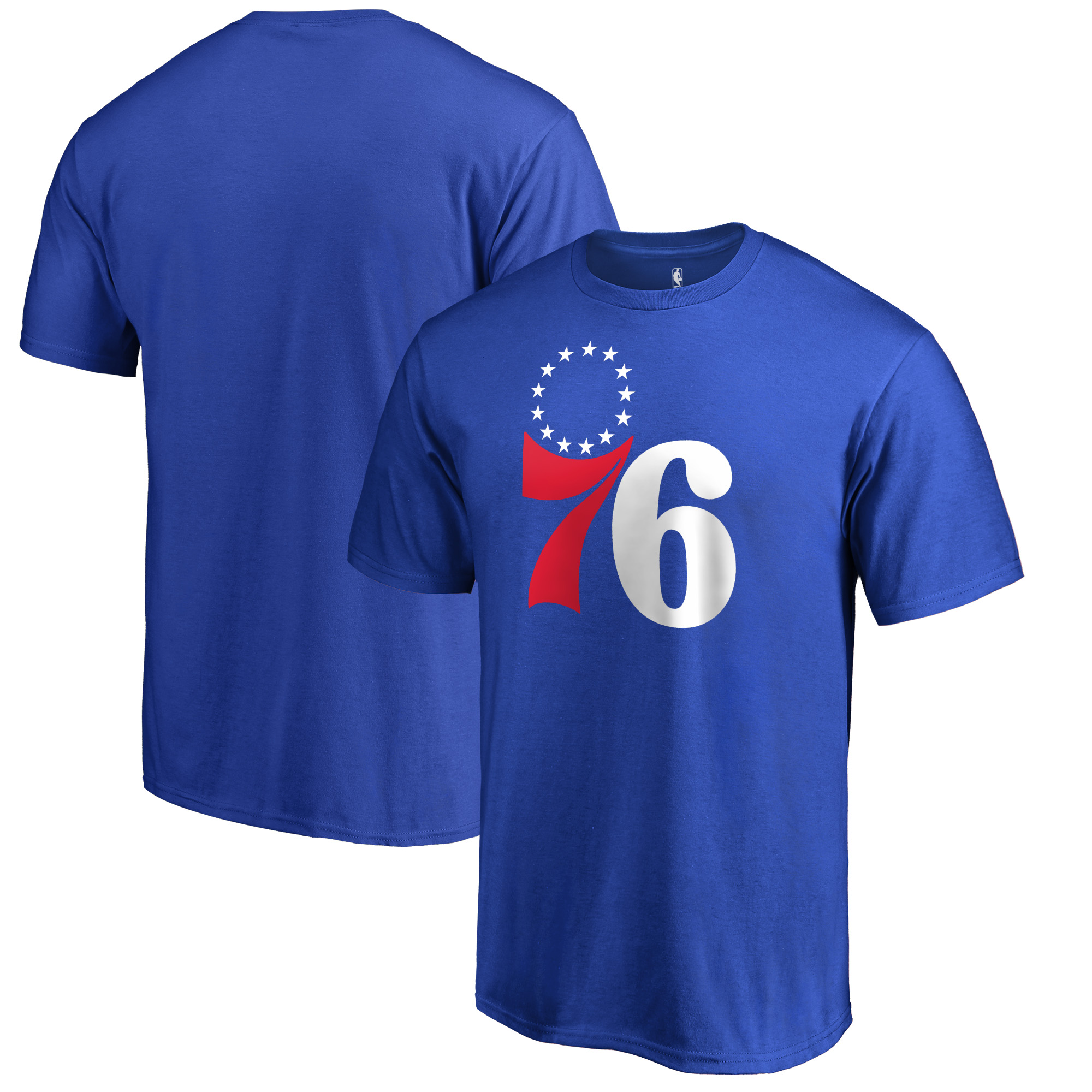 Philadelphia 76ers Fanatics Branded Secondary Logo T-Shirt - Royal