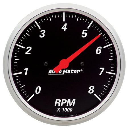 AutoMeter 1499 Designer Black Street Rod Tachometer (Street Rod Interior)