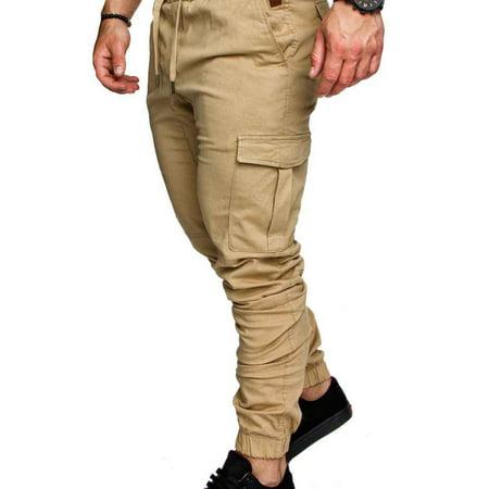 Boyijia Mens Pocket Pants Casual Elastic String Fashion Long Trousers Joggers - image 8 of 8