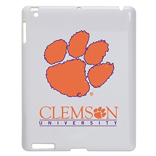 Clemson Tigers Tablet Case for iPad 2/3 - White