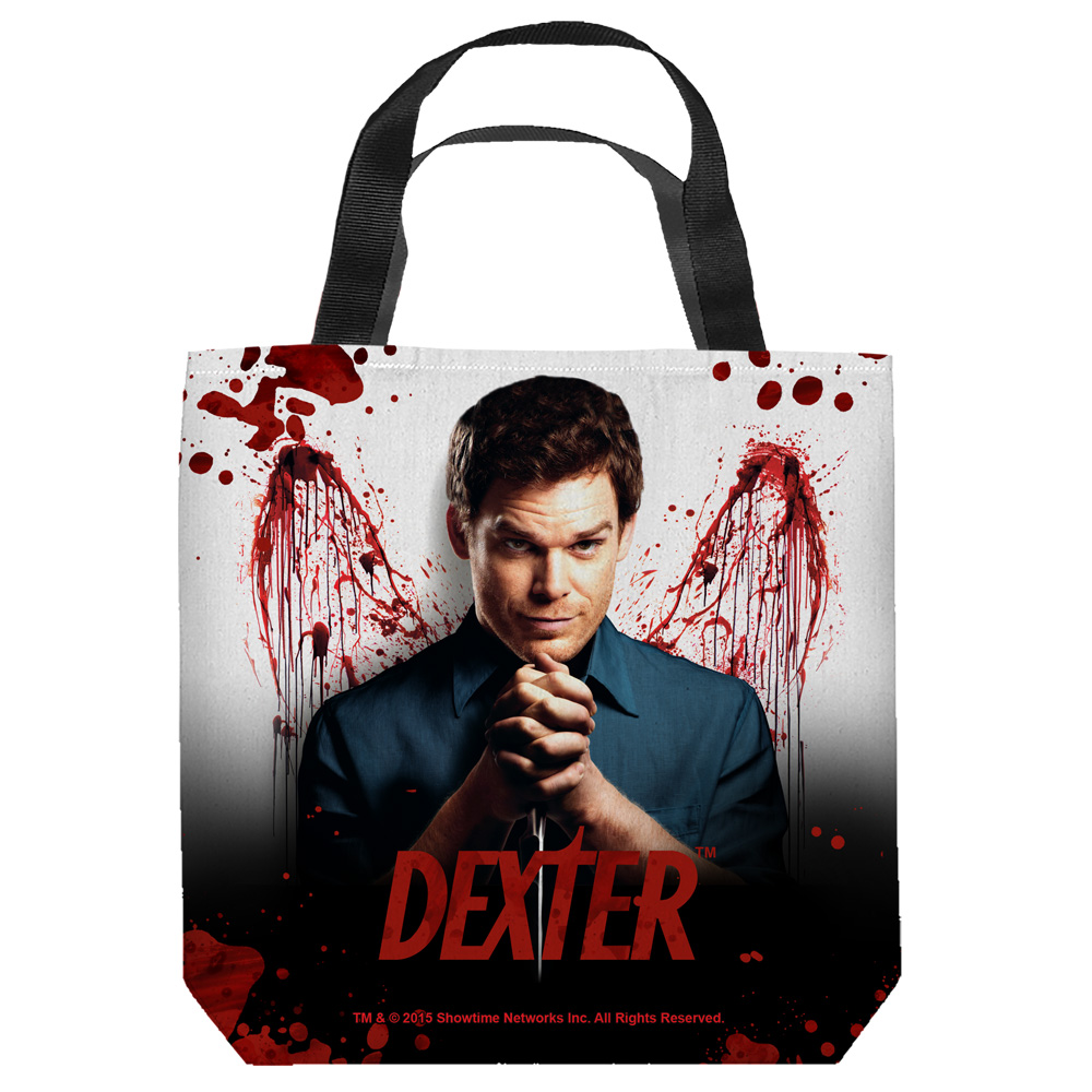 Dexter Blood Never Lies Tote Bag White 9X9