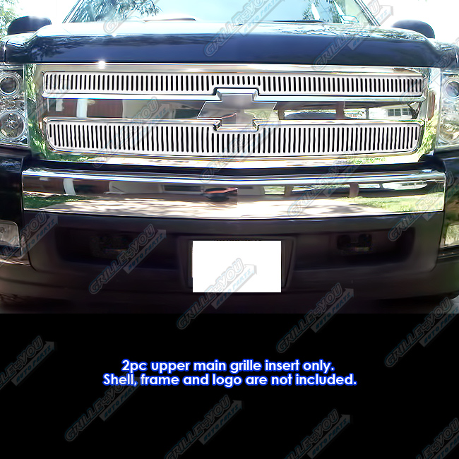 Fits 2007-2013 Chevy Silverado 1500 Vertical Machined Perimeter Grille Insert