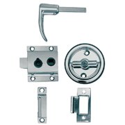 """Perko 1280DP0CHR Chrome Plated Zinc Flush Cup Rim Latch Set with Flush Strike for 3/4"""" - 1-1/8"""" Door Thickness"""