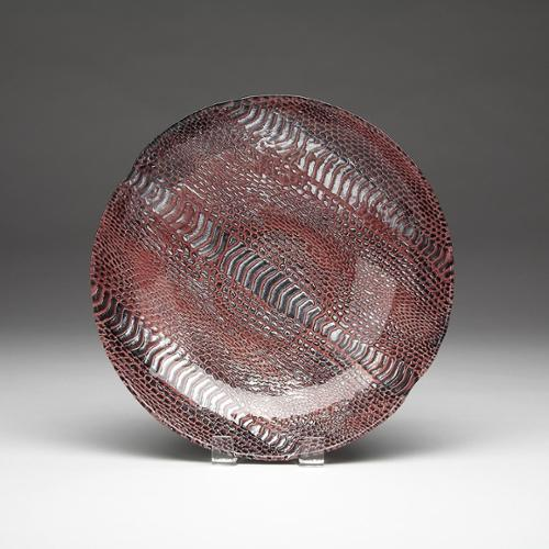 Red Pomegranate Gilded Tableware Snakeskin Dessert Cognac Plate