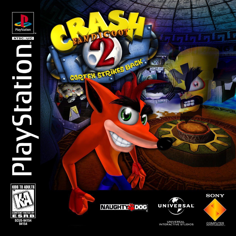 Crash Bandicoot 2 Cortex Strikes Back - Playstation PS1 (Refurbished)