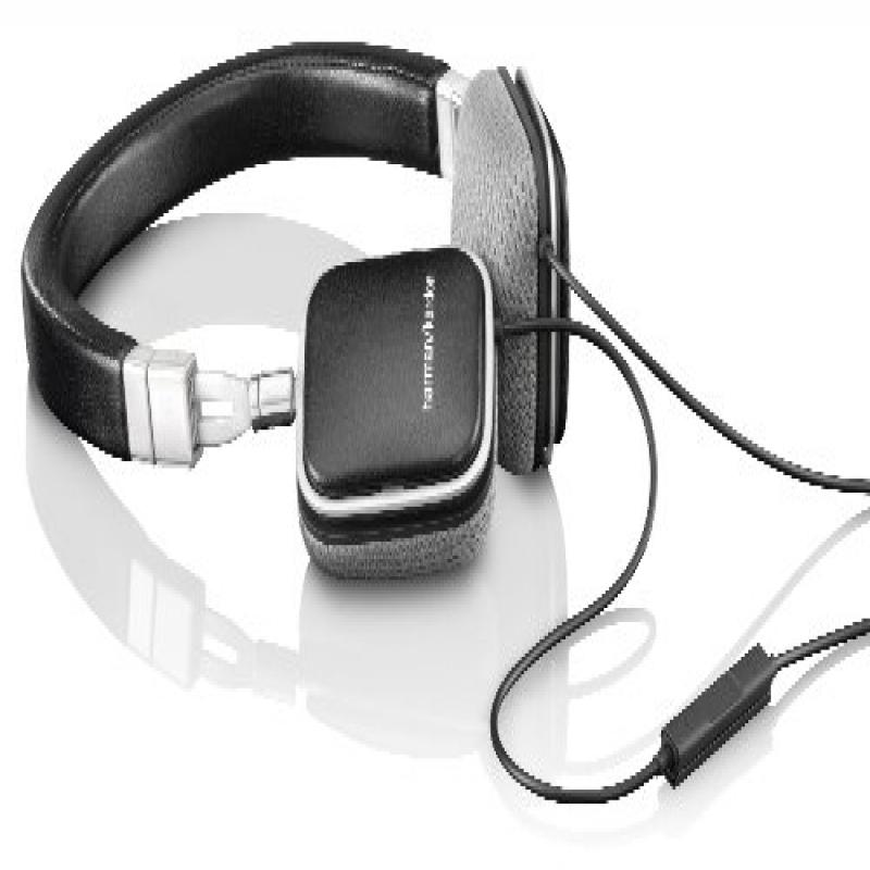 Harman Kardon SOHOi BLK Premium Lie Flat-On Ear Mini Headphones with iOS Remote (Black) by Harman Kardon