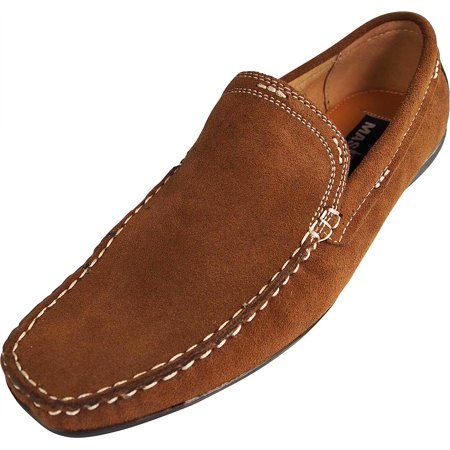 - Masimo - Mens Slip On Casual Dress Suede Driving Moccasin - Driver Mocs