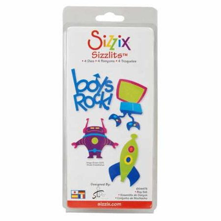 (SIZZLITS DIE SET 4 PACK-SMALL BOY By Sizzix)