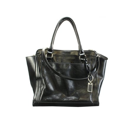 Giani Bernini - Giani Bernini Black Glazed Wing Tote Bag OSFA ...