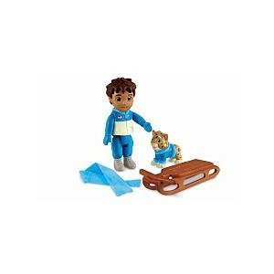 Fisher Price Dora the Explorer Dollhouse Figures Diego with Cat and Sled, By FisherPrice by