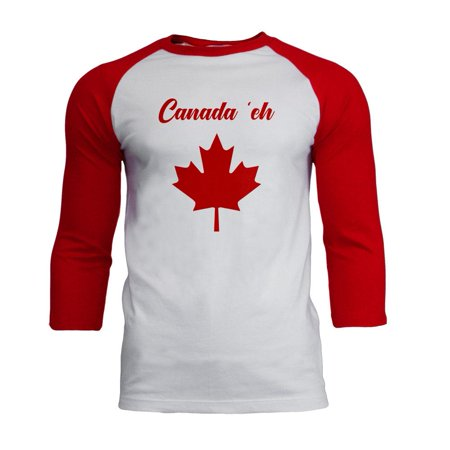 Canada Day T-shirt (Canada Day 'Eh Pun Red Mens Soft Raglan T Shirt)