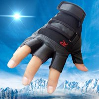 Outtop Men Tactical Outdoor Sports Bike Bicycle Half Finger Leather Gloves