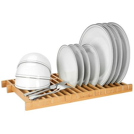 Bamboo Dish Drying Rack.Sortwise Dish Rack Drying Rack Bamboo Dish Drainer Plate Organizer Walmart Canada