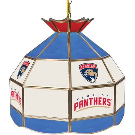 "NHL 16"" Handmade Tiffany Style Lamp, Florida Panthers by"