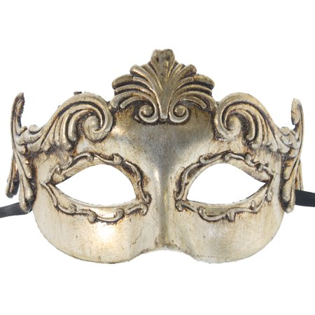 GREEK MYTHOLOGY MASK - Venetian Costume - MASQUERADE - Gold Masquerade Mask For Men
