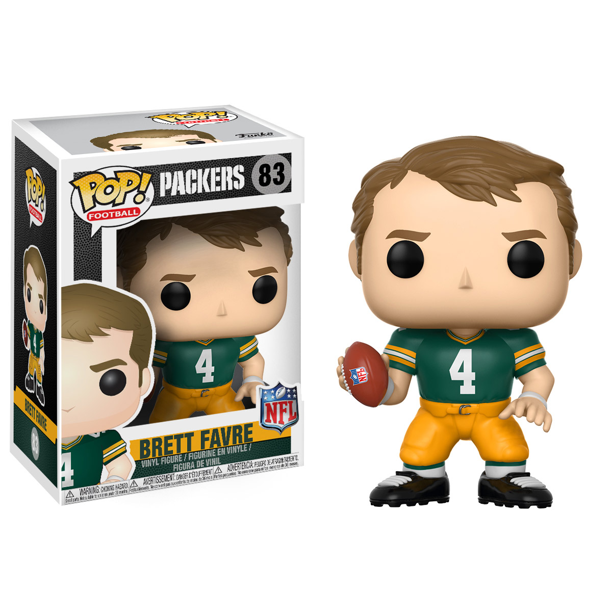 FUNKO POP! SPORTS: NFL Legends - Brett Favre (Green Bay Home)