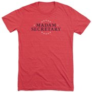 Madam Secretary Distress Logo Mens Tri-Blend Short Sleeve Shirt