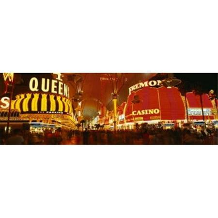 Casino Lit Up At Night  Fremont Street  Las Vegas  Nevada  USA Poster Print by  - 36 x 12](Casino Theme Night)