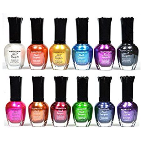 Kleancolor Nail Polish - Awesome Metallic Full Size Lacquer Lot of 12-pc](Awesome Halloween Nails)
