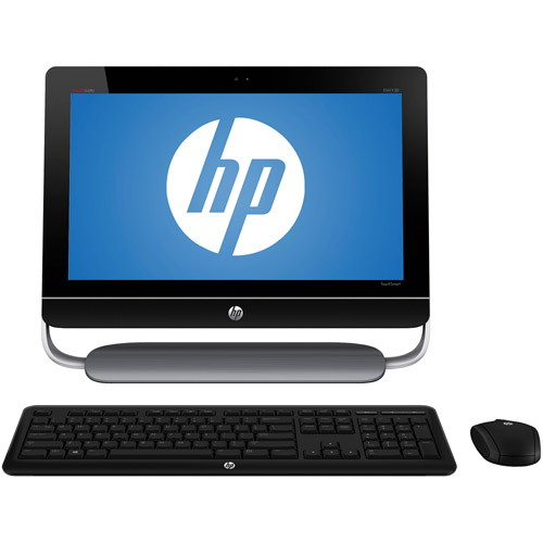 "HP Black Envy TouchSmart 20-D010 All-In-One Desktop PC with Intel Pentium G870 Processor, 4GB Memory, 20"" Monitor, 500GB Hard Drive and Windows 8 Operating System"