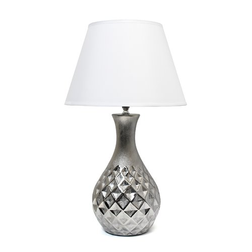 Elegant Designs Juliet Ceramic Table Lamp with Metallic Silver Base by All the Rages