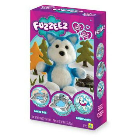 Fuzzeez Felt Kit-Husky Dog (Stuffed Felt)