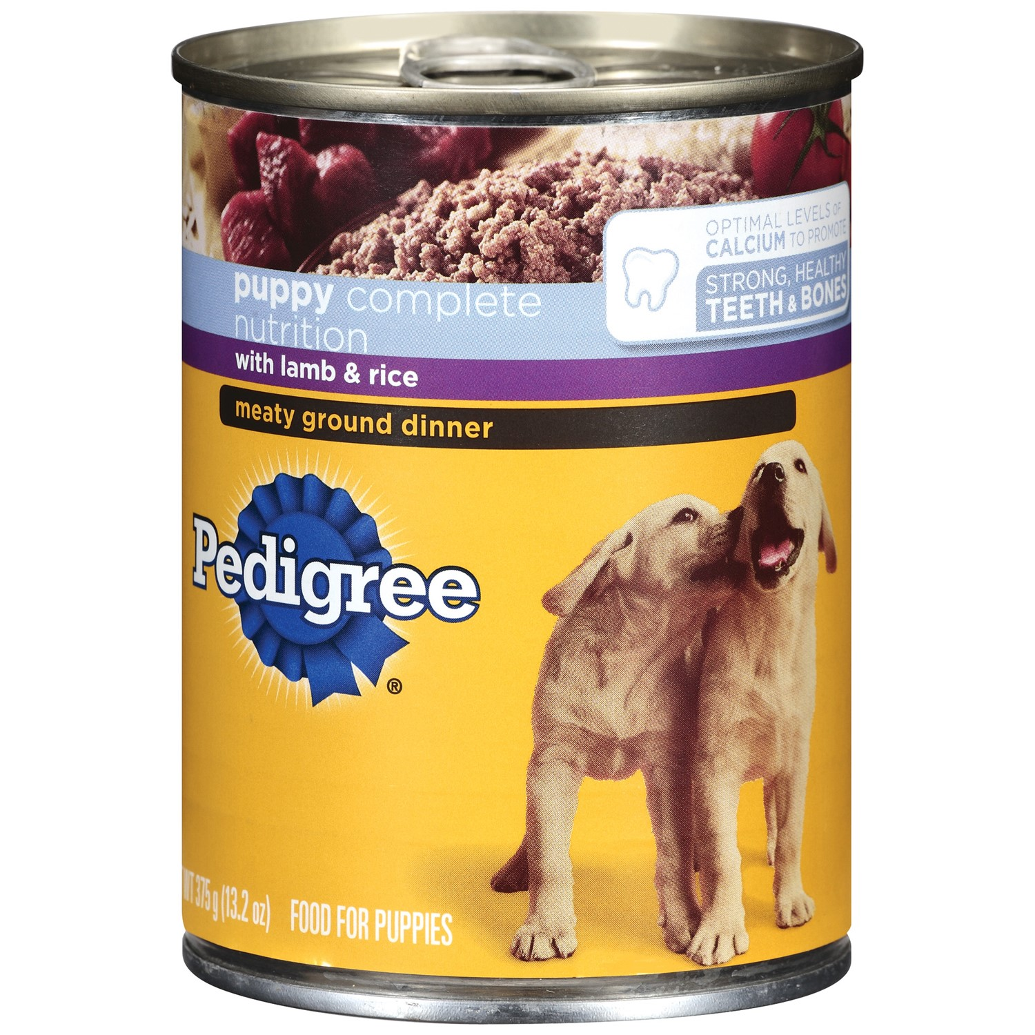 Pedigree Complete Nutrition Meaty Ground Lamb & Rice Dinner Puppy Wet Dog Food, 13.2 oz