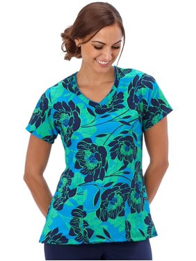 e6bb3936cd2 Product Image Classic Fit Collection by Jockey® Women's Mock Wrap Floral  Print Scrub Top