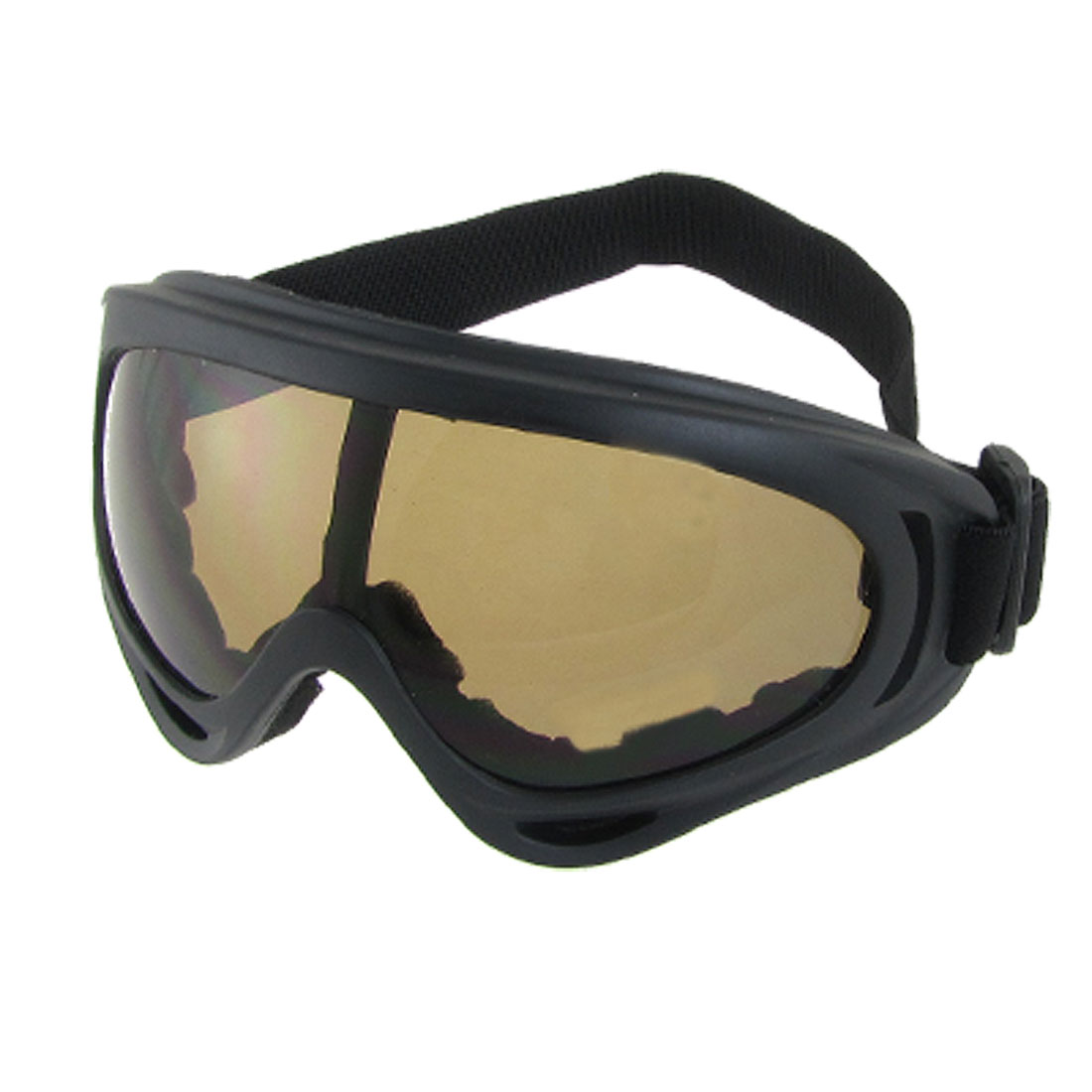 Adjustable Strap Full Frame Mirror Lens Ski Skate Eyewear Glasses Goggles Black by