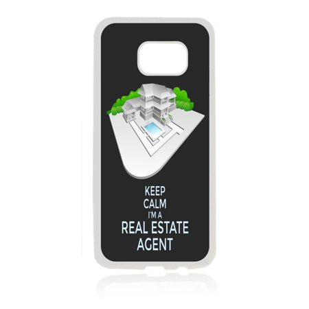 Keep Calm I'm a Real Estate Agent White Rubber Thin Case Cover for the Samsung Galaxy s6 - Samsung Galaxy s6 Accessories - s 6 Phone