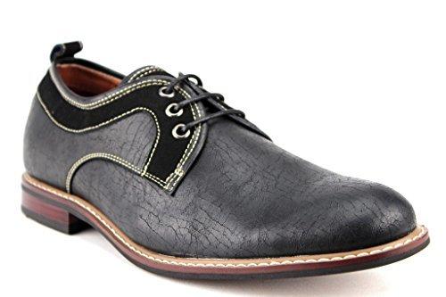 Ferro Aldo Men's 19257D Crinkle Cut Derby Oxfords Dress Shoes