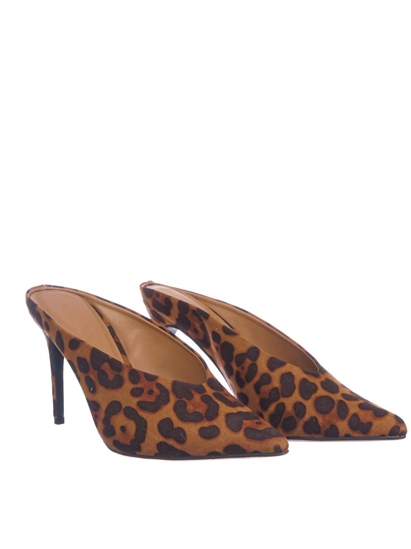 Carnation07 Pointed Toe Backless Dress Pump Women High Heel Split Mule Shoes