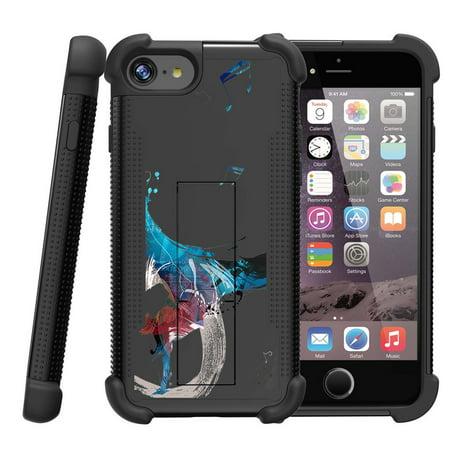Apple Iphone 7 4 7  Shockwave Armor Dual Layer Kicsktand Case   Break The Rhythm