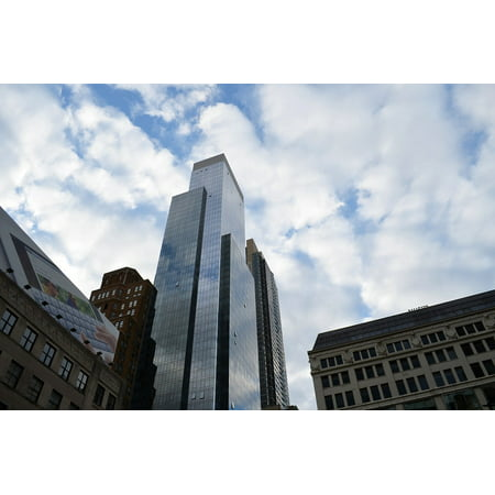 Canvas Print New York Urban Architecture Tower City Building Stretched Canvas 10 x (New Building In New York Twin Towers)